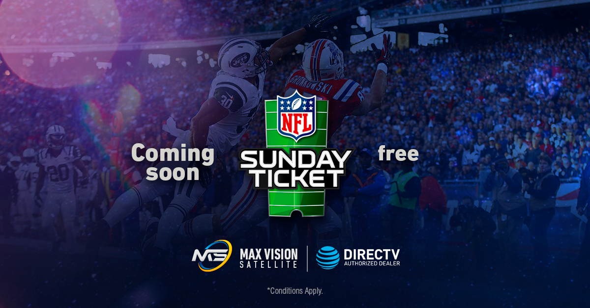 ¡NFL 2018 Sunday Ticket INCLUDED!